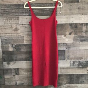 Red Body-Con Cocktail Dress